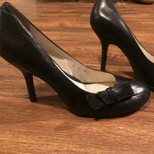 Cathy Jean Brazil Black Bow Heels SZ10